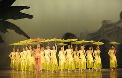 La muchacha caminó acto de los estorbos- en segundo lugar de los eventos del drama-Shawan de la danza del pasado Fotografía de archivo