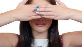 La muchacha cierra ojos Imagenes de archivo