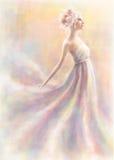 La muchacha como flor del lirio libre illustration