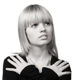 La muchacha con el pelo de Fotos de archivo libres de regalías