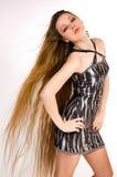 La muchacha con el pelo largo Foto de archivo libre de regalías