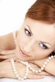 La muchacha con las perlas Imagenes de archivo