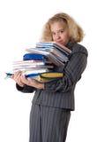 La muchacha con los libros de textos Imagen de archivo