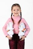 La muchacha con los patines Fotografía de archivo