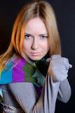 La muchacha con los puños Imagen de archivo libre de regalías