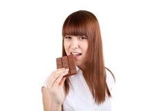 La muchacha con un chocolate Imagen de archivo