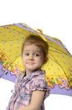 La muchacha con un paraguas Fotografía de archivo