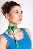 La muchacha con una cinta en un cuello Imagen de archivo libre de regalías