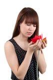 La muchacha con una flor Foto de archivo
