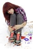 La muchacha creativa Imagen de archivo libre de regalías
