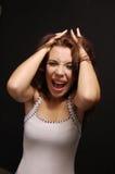 La muchacha de grito imagen de archivo libre de regalías
