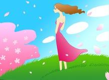 La muchacha de la hierba Fotos de archivo libres de regalías