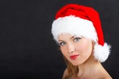 La muchacha de la Navidad Fotos de archivo