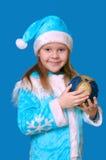 La muchacha de la Navidad Imagenes de archivo