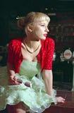 La muchacha de partido de los años 60 Foto de archivo libre de regalías