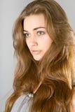 La muchacha de pelo largo Foto de archivo