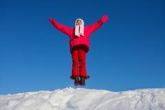 La muchacha de salto Imagenes de archivo