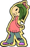 La muchacha del inconformista stock de ilustración