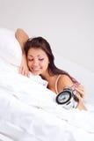 La muchacha despierta Imagen de archivo libre de regalías
