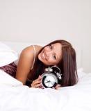 La muchacha despierta Imagenes de archivo