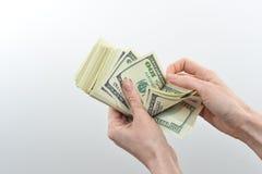 La muchacha dijo 10000 dólares de disponible Imágenes de archivo libres de regalías