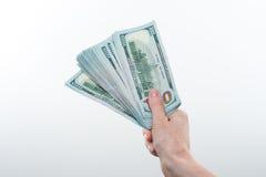 La muchacha dijo 10000 dólares de disponible Fotos de archivo