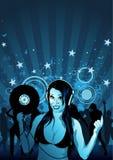 La muchacha DJ Wallpaper Imagen de archivo