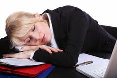 La muchacha durmiente Imagen de archivo