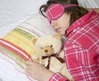 La muchacha durmiente. Foto de archivo libre de regalías