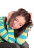 La muchacha el adolescente, aislado. Imagenes de archivo