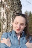La muchacha el estudiante fotografía de archivo
