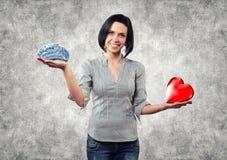 La muchacha elige amor Foto de archivo libre de regalías