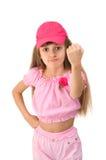 La muchacha en color de rosa Fotos de archivo libres de regalías