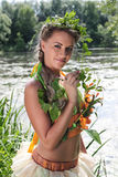 La muchacha en el agua Imagen de archivo