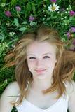 La muchacha en el prado Fotografía de archivo libre de regalías