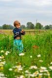 La muchacha en el prado Imagen de archivo