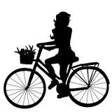 La muchacha en la bici libre illustration
