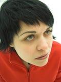 La muchacha en rojo Imagen de archivo libre de regalías