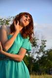 La muchacha en sueños Imagen de archivo libre de regalías