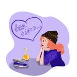 La muchacha en sueños Foto de archivo libre de regalías
