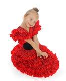 La muchacha en un español rojo (series) Fotografía de archivo libre de regalías