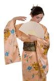 La muchacha en un kimono Fotografía de archivo libre de regalías