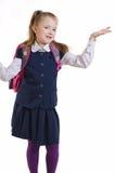 La muchacha en un uniforme escolar Fotografía de archivo