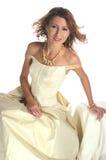La muchacha en un vestido de noche Imágenes de archivo libres de regalías