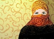 La muchacha en una bufanda imagen de archivo