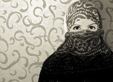 La muchacha en una bufanda imágenes de archivo libres de regalías