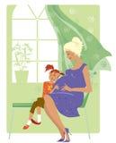La muchacha escucha el bebé Imágenes de archivo libres de regalías