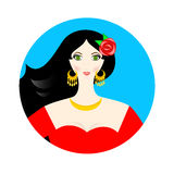 La muchacha española Imagen de archivo libre de regalías