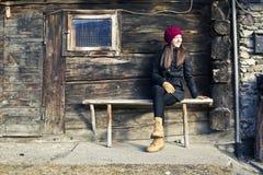 La muchacha está esperando Imagen de archivo libre de regalías