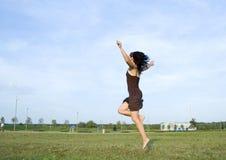 La muchacha feliz Imagenes de archivo